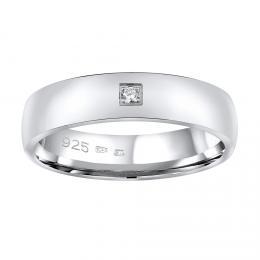Snubní støíbrný prsten POESIA v provedení se zirkonem pro ženy