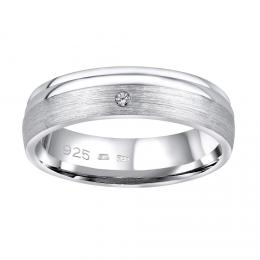 Snubnн stшнbrnэ prsten AMORA v provedenн se zirkonem pro ћeny