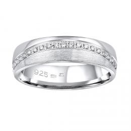 Snubn� st��brn� prsten GLAMIS v proveden� se zirkony pro �eny