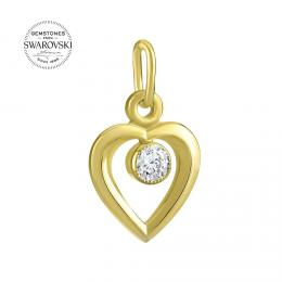 Zlatэ pшнvмsek srdce s pшнrodnнm topazem Swarovski Gemstones
