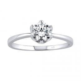 SILVEGO stшнbrnэ prsten PRINCESS se Swarovski® Zirconia - zvмtљit obrбzek