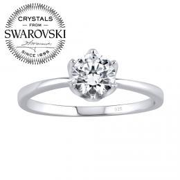 SILVEGO st��brn� prsten PRINCESS se Swarovski® Zirconia