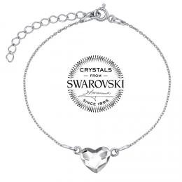 SILVEGO stшнbrnэ nбramek se Swarovski(R) Crystals srdce иirй