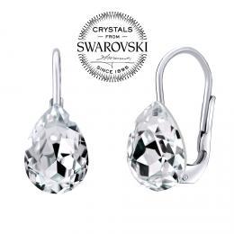 SILVEGO stшнbrnй nбuљnice se Swarovski(R) Crystals kapka