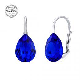 SILVEGO støíbrné náušnice se Swarovski® Crystals kapka