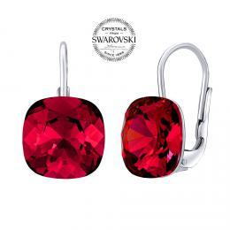SILVEGO stшнbrnй nбuљnice se Swarovski® Crystals square 10 mm