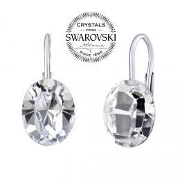 SILVEGO stшнbrnй nбuљnice se Swarovski(R) Crystals ovбl