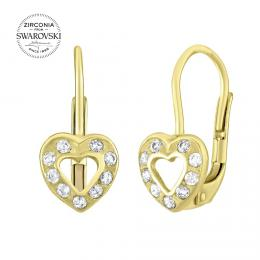 Zlat� n�u�nice srd��ka se Swarovski® Zirconia