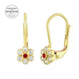 SILVEGO zlaté náušnice s pøírodními topazy Swarovski® Gemstones