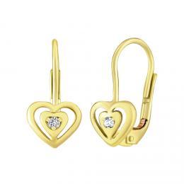 SILVEGO zlat� n�u�nice srdce s p��rodn�m �ir�m topazem Swarovski Gemstones