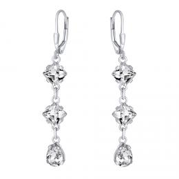 SILVEGO støíbrné náušnice øetízkové se Swarovski® krystaly