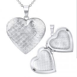 Ocelov� medailon srdce otev�rac� v�etn� �et�zku