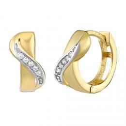 Zlat� kruhov� n�u�nice LOELA se zirkony