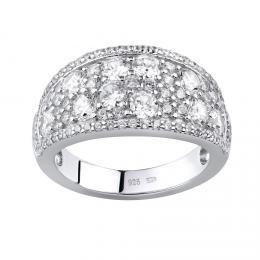 Luxusní støíbrný prsten CARMEN se zirkony - zvìtšit obrázek