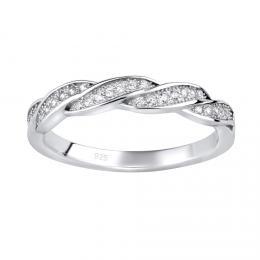 Stшнbrnэ prsten IRIS s mikro zirkony