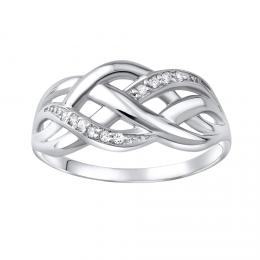 Luxusnн stшнbrnэ prsten ELISEE se zirkony