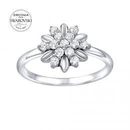 SILVEGO st��brn� prsten ALIVIA se Swarovski® Zirconia