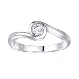 SILVEGO støíbrný prsten se Swarovski® Zirconia