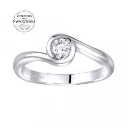 SILVEGO stшнbrnэ prsten se Swarovski® Zirconia