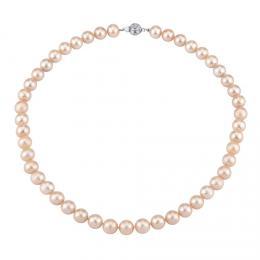 Perlový náhrdelník z pøírodních rùžových perel se støíbrným zapínáním - zvìtšit obrázek
