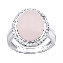 Silvego støíbrný prsten s pøírodním Rùženínem