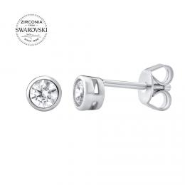 SILVEGO stшнbrnй nбuљnice se Swarovski® Zirconia 4 mm