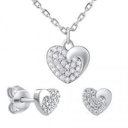 Støíbrný dárkový set šperkù LOVE pro zamilované - zvìtšit obrázek