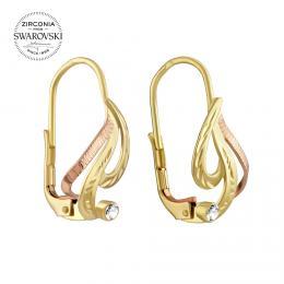 SILVEGO zlat� n�u�nice s p��rodn�m �ir�m topazem Swarovski® Gemstones