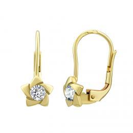 SILVEGO zlat� n�u�nice s p��rodn�m topazem Swarovski® Gemstones