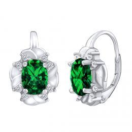 CARISSA stшнbrnй nбuљnice se syntetickэm zelenэm smaragdem
