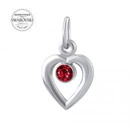 Zlat� p��v�sek SILVEGO srdce s p��rodn�m rud�m topazem Swarovski Gemstones
