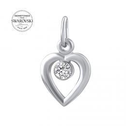 Zlat� p��v�sek SILVEGO srdce s p��rodn�m �ir�m topazem Swarovski Gemstones