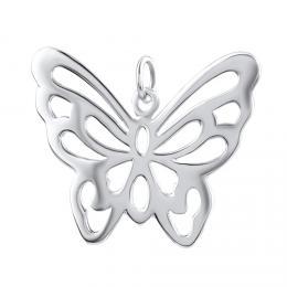 Støíbrný pøívìsek motýl