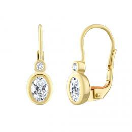 Zlat� n�u�nice SILVEGO s p��rodn�m topazem Swarovski® Gemstones