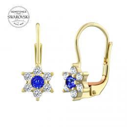 Zlatй nбuљnice kvмtinky SILVEGO s pшнrodnнm topazem Swarovski Gemstones