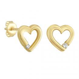Zlat� n�u�nice srd��ka na puzetu se zirkony