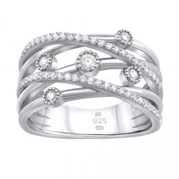 Luxusnн stшнbrnэ prsten ADHARA se zirkony