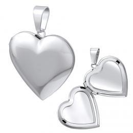 Ocelov� medailon srdce otev�rac� - 43 cm