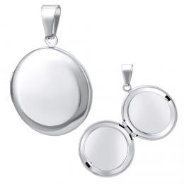 Ocelový medailon kruh otevírací - 43 cm
