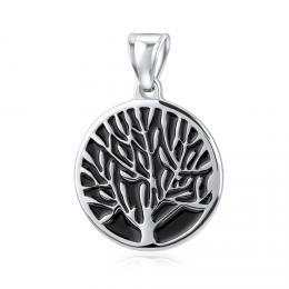 Pøívìsek z chirurgické oceli - strom života - 43 cm