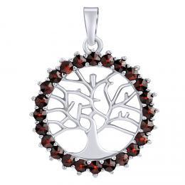 SILVEGO støíbrný pøívìsek strom života GRAISA s pravým granátem