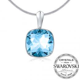 SILVEGO st��brn� p��v�sek se Swarovski(R) Crystals Aquamarine - zv�t�it obr�zek