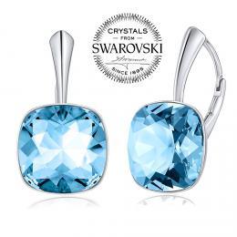 SILVEGO st��brn� n�u�nice se Swarovski(R) Crystals Aquamarine - zv�t�it obr�zek