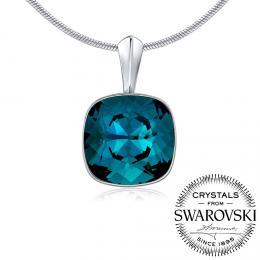 SILVEGO stшнbrnэ pшнvмsek se Swarovski(R) Crystals Indicolite 12mm