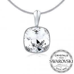 SILVEGO støíbrný pøívìsek se Swarovski® Crystals SQUARE 12mm