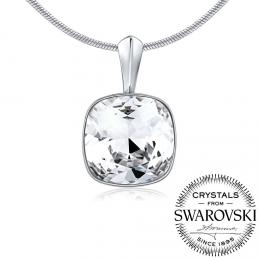 SILVEGO stшнbrnэ pшнvмsek se Swarovski(R) Crystals SQUARE 12mm