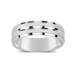 Stшнbrnэ snubnн prsten 5mm SILVEGOB21532
