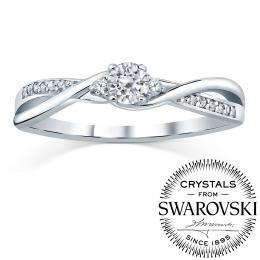 Silvego stшнbrnэ prsten se Swarovski(R) Zirconia