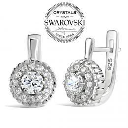 SILVEGO luxusn� st��brn� n�u�nice Nobless se Swarovski(R) Crystals