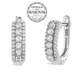 SILVEGO st��brn� d�msk� n�u�nice se Swarovski(R) Crystals